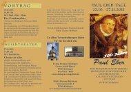 Paul-Eber Ausstellung - Evang. Stadtkirche Kitzingen