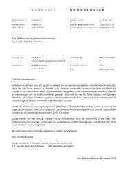 Brief over wijkplan 2005 politie Noordenveld - Bestuur Noordenveld