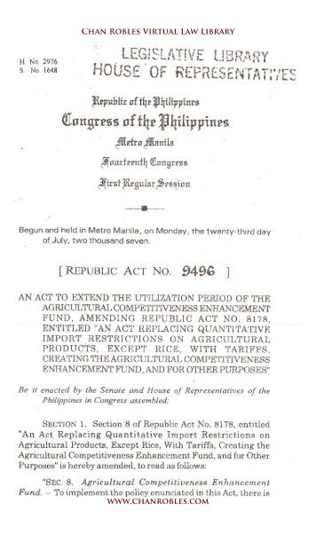 ph republic act 7170 Republic of the philippines  [republic act 7877] an act declaring sexual harassment unlawful in the employment, education or training environment, and for other .