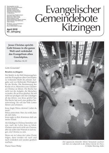 Zeichen setzen - Evang. Stadtkirche Kitzingen