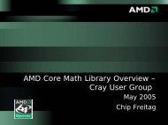 Freitag slides - Cray User Group