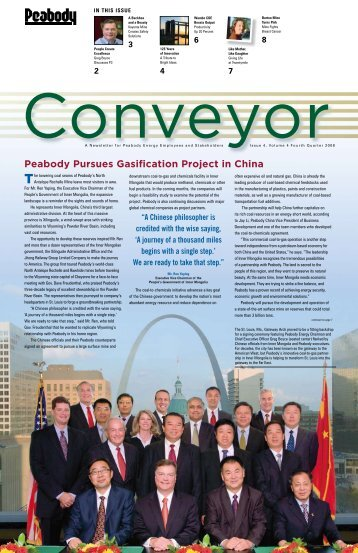 Peabody Pursues Gasification Project in China - Peabody Energy
