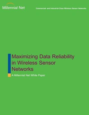 Maximizing Data Reliability in Wireless Sensor ... - Millennial Net