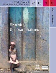 Reaching the marginalized: EFA global monitoring report, 2010; 2010
