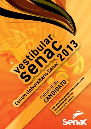 Manual do Candidato | Vestibular | 1º Semestre ... - Senac São Paulo
