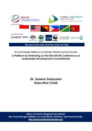 Dr. Suseno Sukoyono Executive Chair - Coral Triangle Initiative on ...