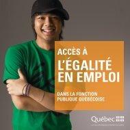 Accès à l'égalité en emploi dans la fonction publique québécoise