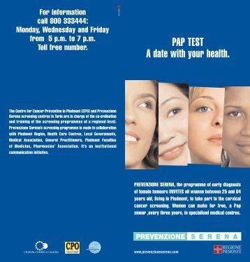 PAP TEST A date with your health. - CPO