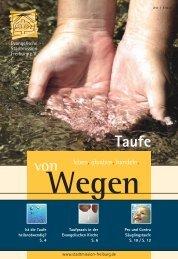 Taufe von - Evangelische Stadtmission Freiburg