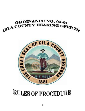 table of contents - Gila County