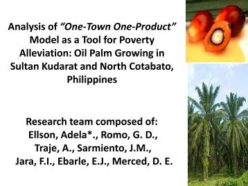 Model as a Tool for Poverty Alleviation