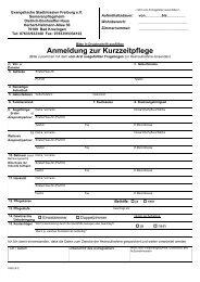 Anmeldung zur Kurzzeitpflege - Evangelische Stadtmission Freiburg