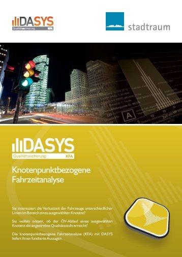 DASYS KFA: Knotenpunktbezogene Fahrzeitanalyse - stadtraum