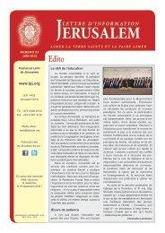 Juin 2013 - Patriarcat latin de Jérusalem