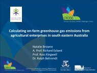 On-farm greenhouse gas emissions from agricultural enterprises in ...