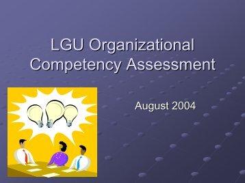 LGU Competency Framework8.pdf - LGRC DILG 10