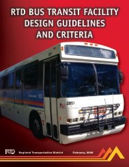 RTD BUS TRANSIT FACILITY DESIGN GUIDELINES AND CRITERIA