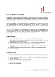Vacancy: Research Internship - Policy Network