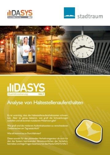 DASYS HALT: Analyse von Haltestellenaufenthalten - stadtraum