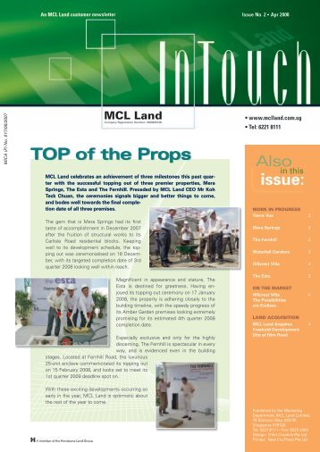 InTouch 2 _Mar08.indd - MCL Land