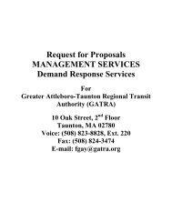 Request for Proposals MANAGEMENT SERVICES ... - Gatra.org