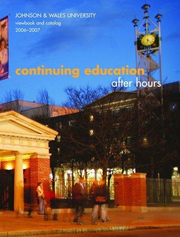 continuing education - Johnson & Wales University