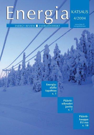 Päästö- oikeudet jaettu s. 7 Energia- alalla tapahtuu s. 1 Päästö ...