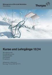 Kursbuch 2013/14 - Bildungszentrum Wirtschaft Weinfelden
