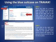 Using the blue suitcase on TRAVAX! STEP 1