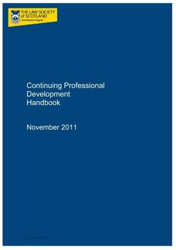 Continuing Professional - Law Society of Scotland