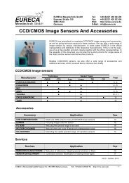 CCD/CMOS Image Sensors And Accessories - EURECA ...
