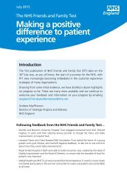 at a glance - NHS Strategic Projects Team