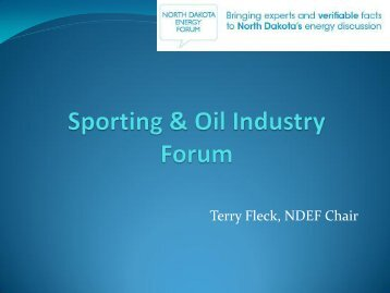 Terry Fleck, NDEF Chair
