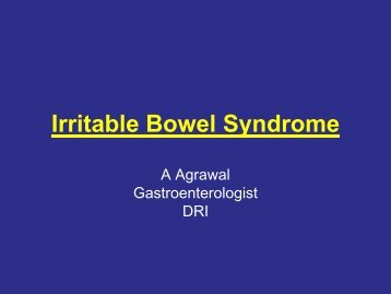Management of IBS - Bowel Cancer UK