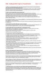 FAQs - häufig gestellte Fragen zur Prepaid-Karten Seite 1 von 3