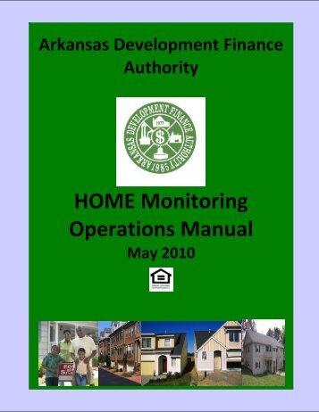 2011 HOME Monitoring Operations Manual - Arkansas
