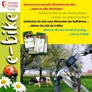 louez un vélo électrique - Province de Liège