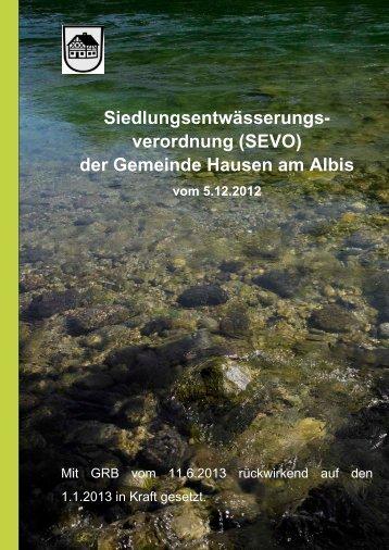Siedlungsentwässerungs - Gemeinde Hausen am Albis
