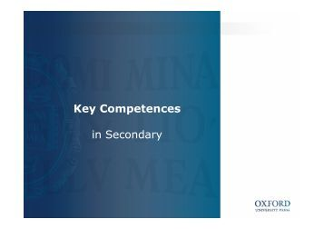 Key Competences in Secondary