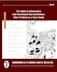The Right to Information and Panchayati Raj Institutions