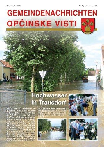 Gemeindenachrichten Juli 2009 - in Trausdorf an der Wulka