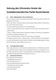 spd-satzung gs - SPD-Ortsverein Goslar