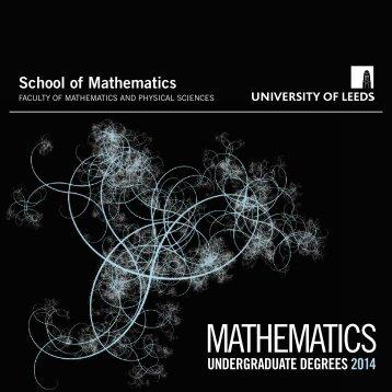 Download the 2014 Mathematics Undergraduate brochure