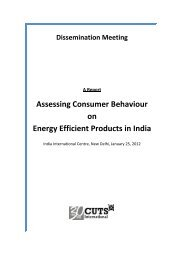 Report - CUTS Centre for International Trade, Economics ...
