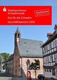 Jahresabschluss - Stadtsparkasse Schwalmstadt