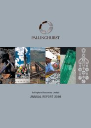 Pallinghurst Resources Limited Annual Report 2010