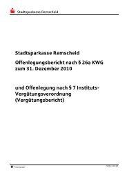 Offenlegungsbericht ssk RS zum 31.12.2010 - Stadtsparkasse ...