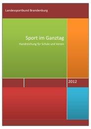Sport im Ganztag - Stadtsportbund Cottbus eV