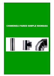 CHIMENEA PARED SIMPLE BIOMASA - Diteco