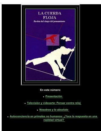 La Cuerda Floja - Facultad de Ciencias Sociales - Universidad de ...